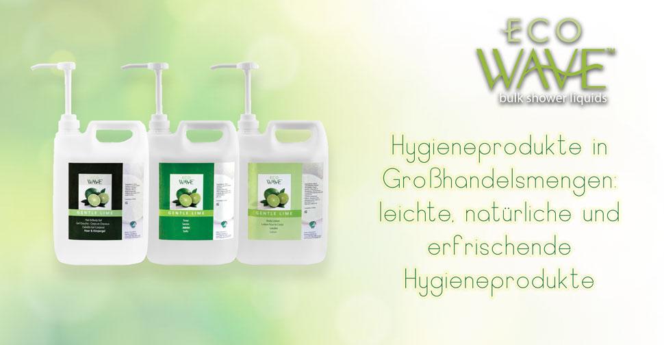 EcoWave: Hygieneprodukte in Großhandelsmengen: leichte, natürliche und erfrischende Hygieneprodukte